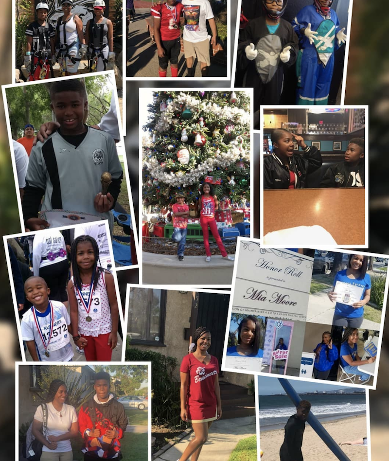 Photo collage of kids from The Learning Center.
