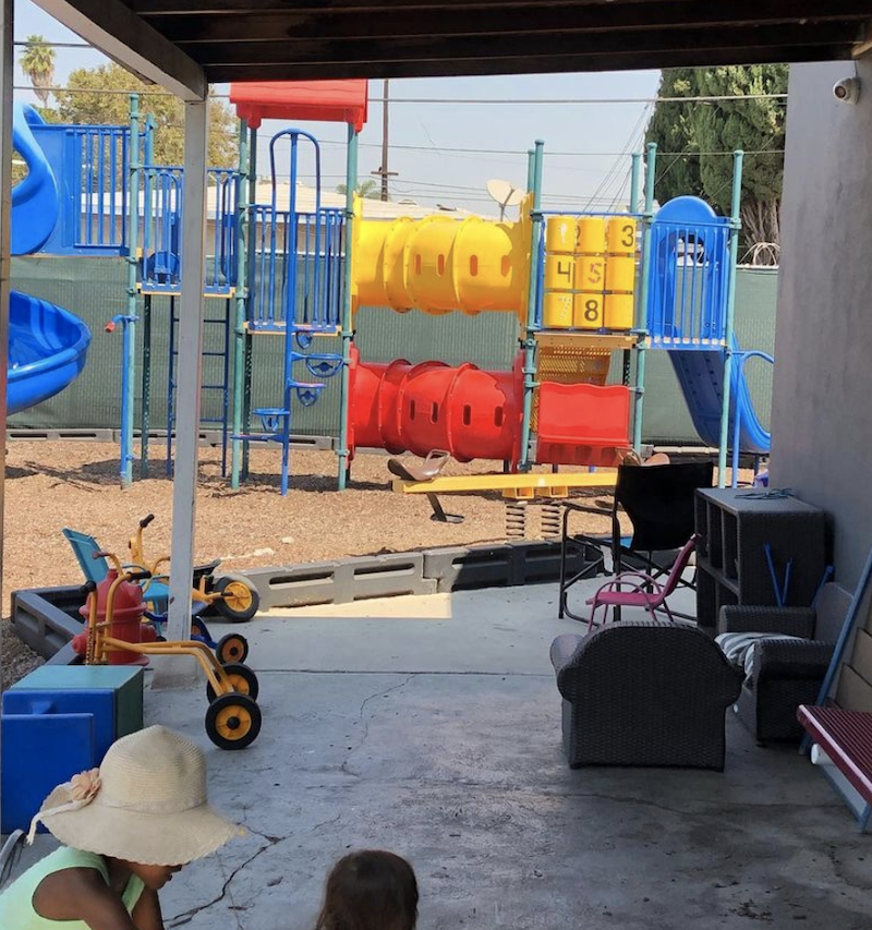 Image of the big jungle gym that's in the playground area of The Learning Box.
