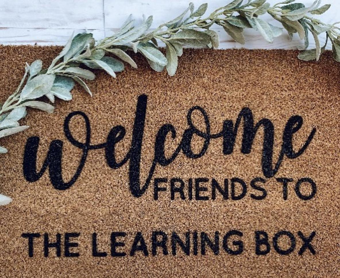 Door matt welcoming friends to The Learning Box.